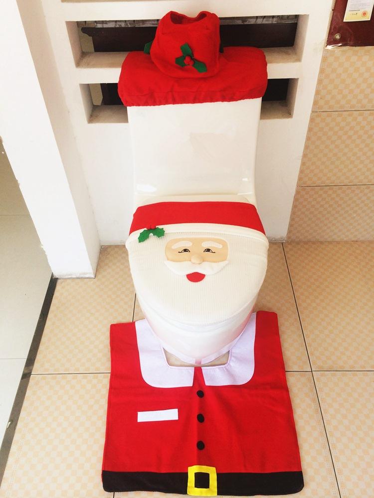 : Koop nieuwe beste happy santa toilet seat cover en badkamer tapijt ...