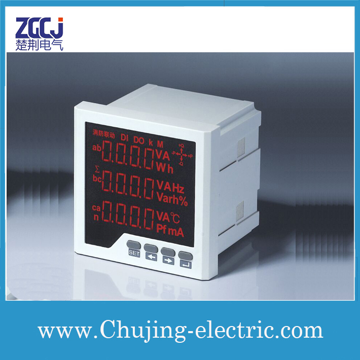 CJ-3D3 intelligent analog panel power multifunction monitoring meter multifunctional meter, digital display A,V,Hz,Cos,W(China (Mainland))