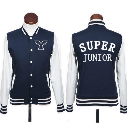 Plus size kpop super junior hoodie jacket fashion preppy style sj single breasted baseball jackets for men women sportwear(China (Mainland))