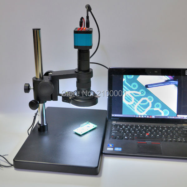 14MP HDMI USB Industry Lab Video Microscope Set Camera + 180X C-MOUNT Lens + 144 LED Light(China (Mainland))