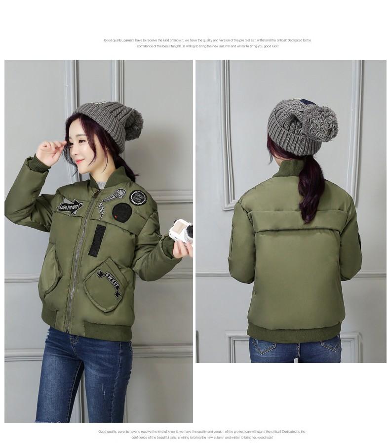 Female Winter Jacket Printed Cotton Short Jacket Latest Fashion Students Women Jacket Slim Large size Movement Down jacket G2807