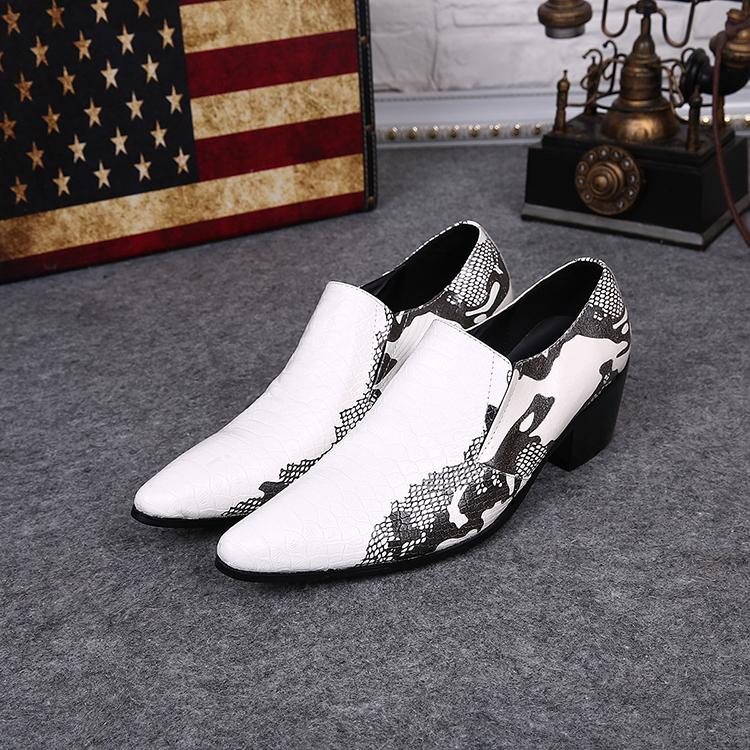Фотография real genuine full grain cow hide leather mens fashion brand design business dress casual shoes height increasing shoe sl158701
