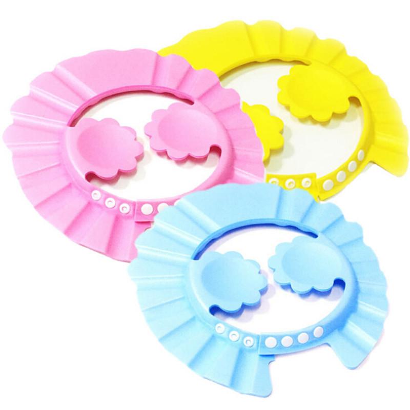 Настроить шапочка для душа дети шампунь шляпа с уха футляр розовый солнце защиты шапка для ребенка 0 - 10 лет