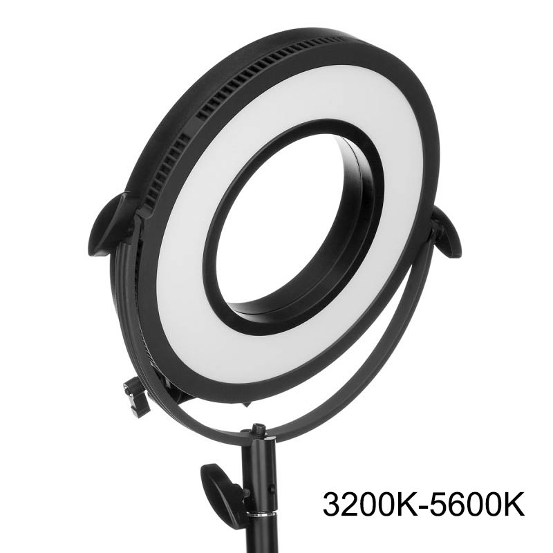 "New Professional LED Panel C-318RLS 10"" Bi-color Beauty Camera Ring Light Stepless Dimming Photographic Edge Lighting Video Lamp(China (Mainland))"