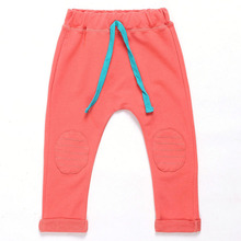 Kid pants new arrival Hot sale 2015 autumn Full Length boys trousers solid harem pants kids