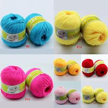 Hot sale Worsted Super Soft Smooth Natural Silk Wool Baby yarn for knitting sweater knitting Yarn(China (Mainland))