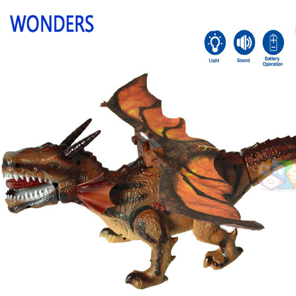 New arrival!  Electric Dinosaurs models Walk Roar Swinging wings Mystical Dragon Toy For Childen Kids Toys Christmas Gift<br><br>Aliexpress