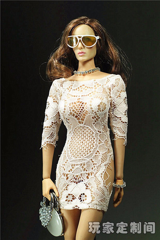 Attractive PHICEN Doll Clothes Customized 1/6 Socialite Night Gown for Feminine Seamless Physique Giant Bust PHICEN Doll Toys Equipment