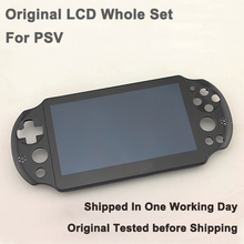 Original Touchscreen Digitizer And Front LCD Screen Display for PS VITA PCH-2000 with Front Frame Replacement Free Ship(China (Mainland))