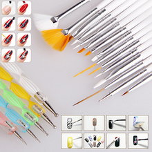 2015 20Pcs Nail Art Salon Design Set Dotting Painting Drawing Polish Brushes Pen Tools 52Y6(China (Mainland))