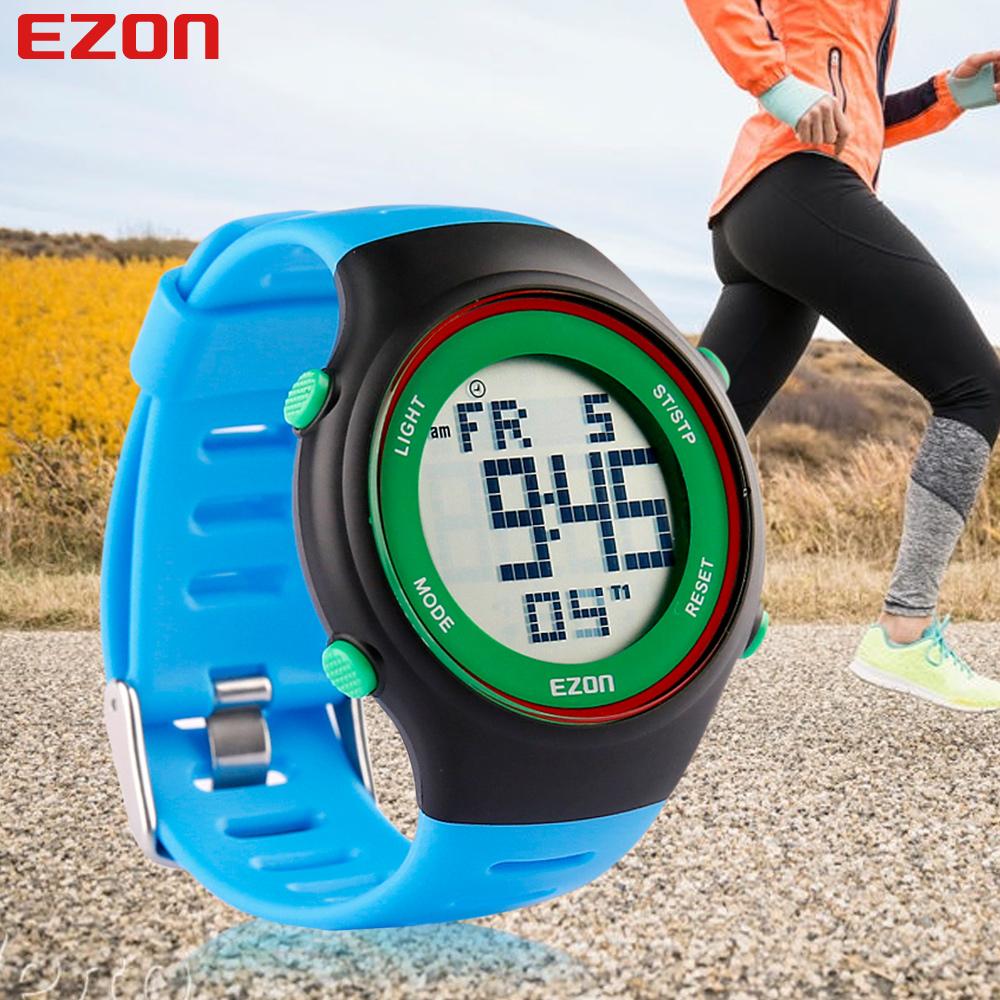 EZON Fashion Watches Ultra-thin Mens Women Sports Waterproof Digital Stopwatch Date Alarm Rubber Sport Wrist Watch(China (Mainland))