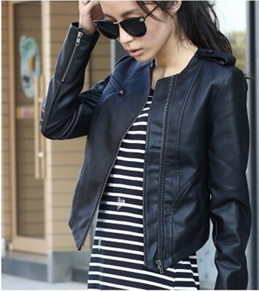 Black Leather Jacket Women Sale