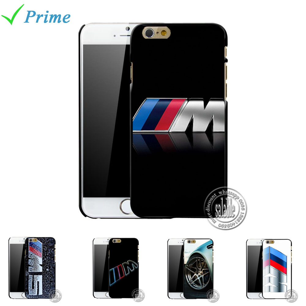 For silm BMW M Series M3 M5 logo Cover Case Hard Protective Phone Shell for iPhone 4 4s 5 5s 6 6s plus 5.5 4.7 inch(China (Mainland))