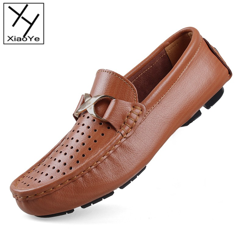 Fashion Tide Mens Leather Loafer Shoes Slip On Excellent Selection Quality Flats EU Size 35-48