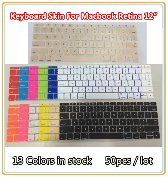 Soft Silicone Keyboard film skin cover for macbook New Retina 12 inch, Wholesales,13 Colors Free Shipping ,50 Pcs / Lots<br><br>Aliexpress