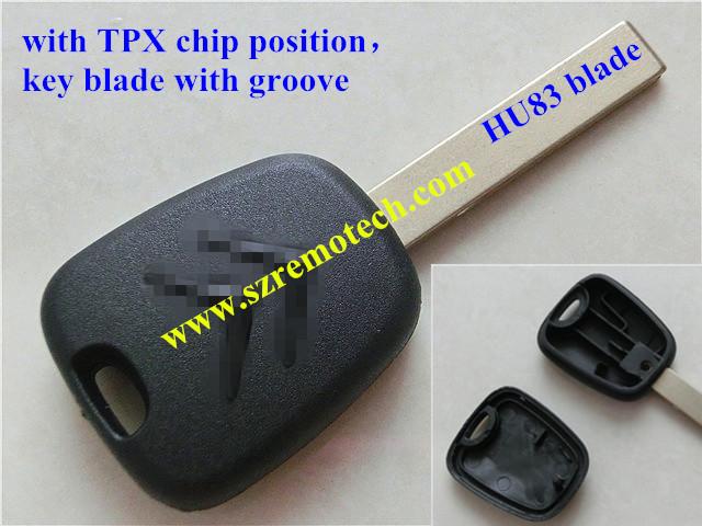 Transponder Key Blank Shell for Peugeot Citroen Car Key Case for Citroen Key Housing With HU83 Blade(China (Mainland))