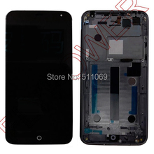For Meizu MX4 LCD Screen Display with Touch Digitizer+frame Assembly free shipping; Black; 100% warranty; 100% new