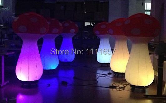 Party inflatable decoration LED inflatable mushroom(1m)black base(China (Mainland))
