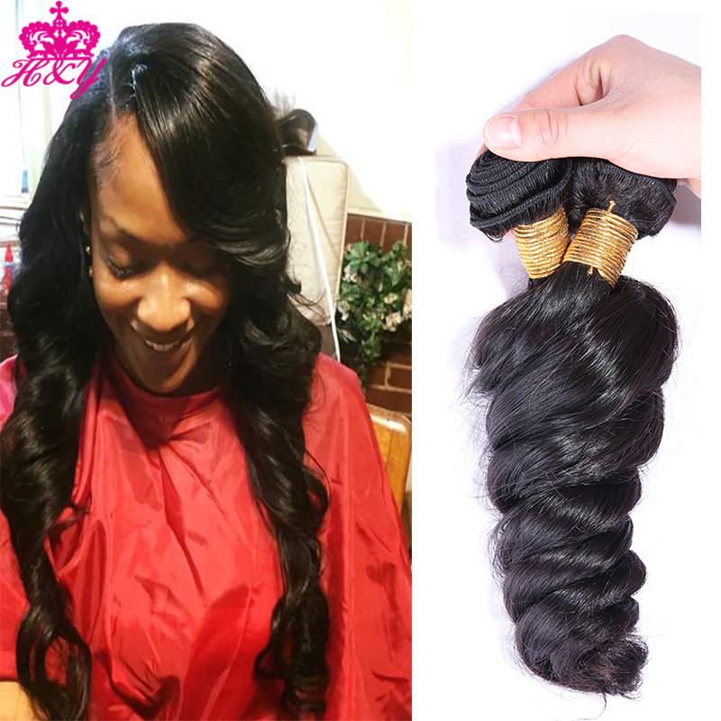 Cheap 6A Peruvian Loose wave Virgin Hair Weaving 3Pcs/Lot Unprocessed Virgin Peruvian Hair Extension Human Hair Bundle Deals