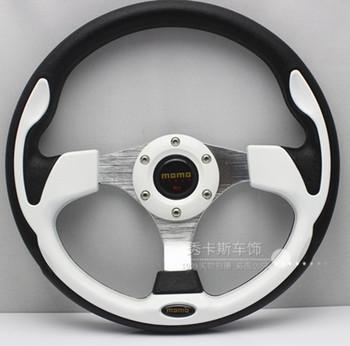Momo automobile race steering wheel PU steering wheel 13 steering wheel cl-311 white