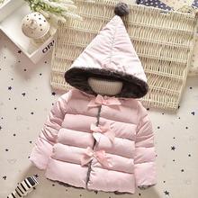 Высокое качество 2016 новой зимней одежды дети верхняя одежда новорожденных девочек парки мода Снег Одежда babys Толстовки clothing горячей продажи(China (Mainland))