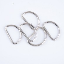 Free Shipping-50Pcs Silver Tone Unwelded Leather Bags Metal D Rings 15x24mm(Inside :11x20mm ) Connect Buckle J1288(China (Mainland))
