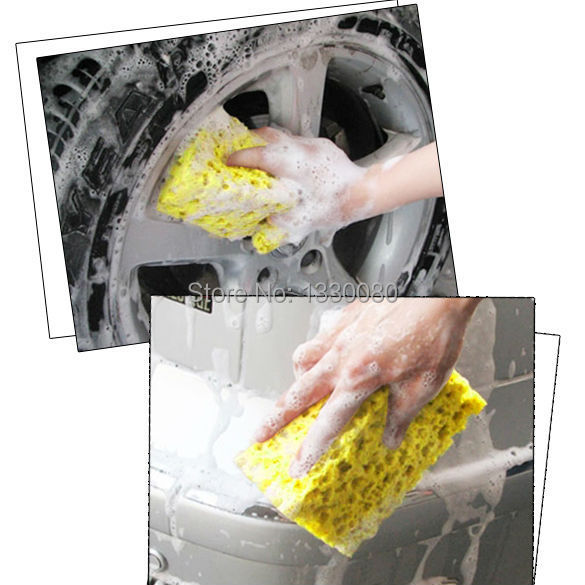 New Fashion Hot Sale Square compressed Sponge Mini Yellow Car Auto Washing Cleaning Sponge Block Bubble Coral Sponge E5M1(China (Mainland))