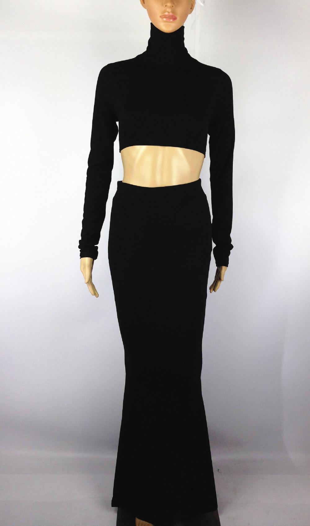 к 2015 году новых женщин мода сексуальный бандаж bodycon партии платье хлопок высокий воротник выдалбливают спинки тело обернуть Длина до пола Платья