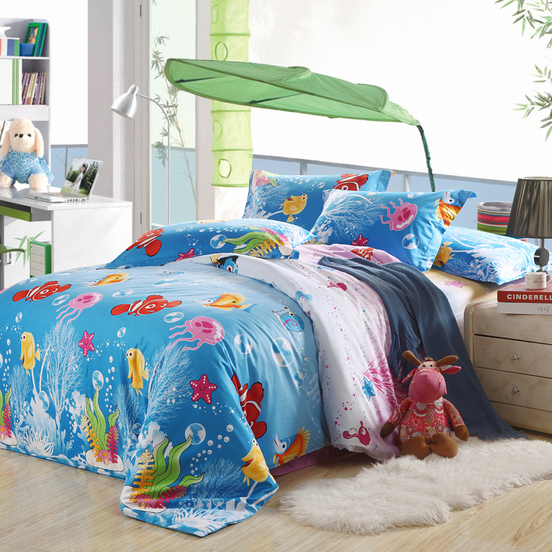pcs 100cotton size cartoon bedding set kids bed