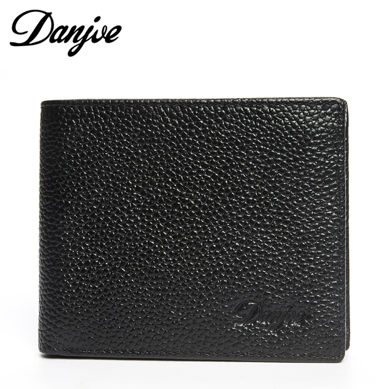 NEW 2015 Fashion Designers Brand Genuine Leather Solid Men's Wallets Money Clip Carteira Bi-Fold Wallet Free Shipping(China (Mainland))