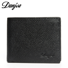 First layer of cowhide brief vertical male wallet genuine leather wallet gift box set