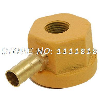 "Yellow 3/4"" Nozzle Single Outlet Coolant Magnetic Base Holder(China (Mainland))"