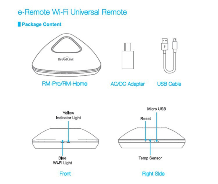18---Broadlink Remote Control Rm Pro RM2, Smart Home Universal Intelligent Controller, Wireless Remote via IOS Android,WIFI+IR+RF switch