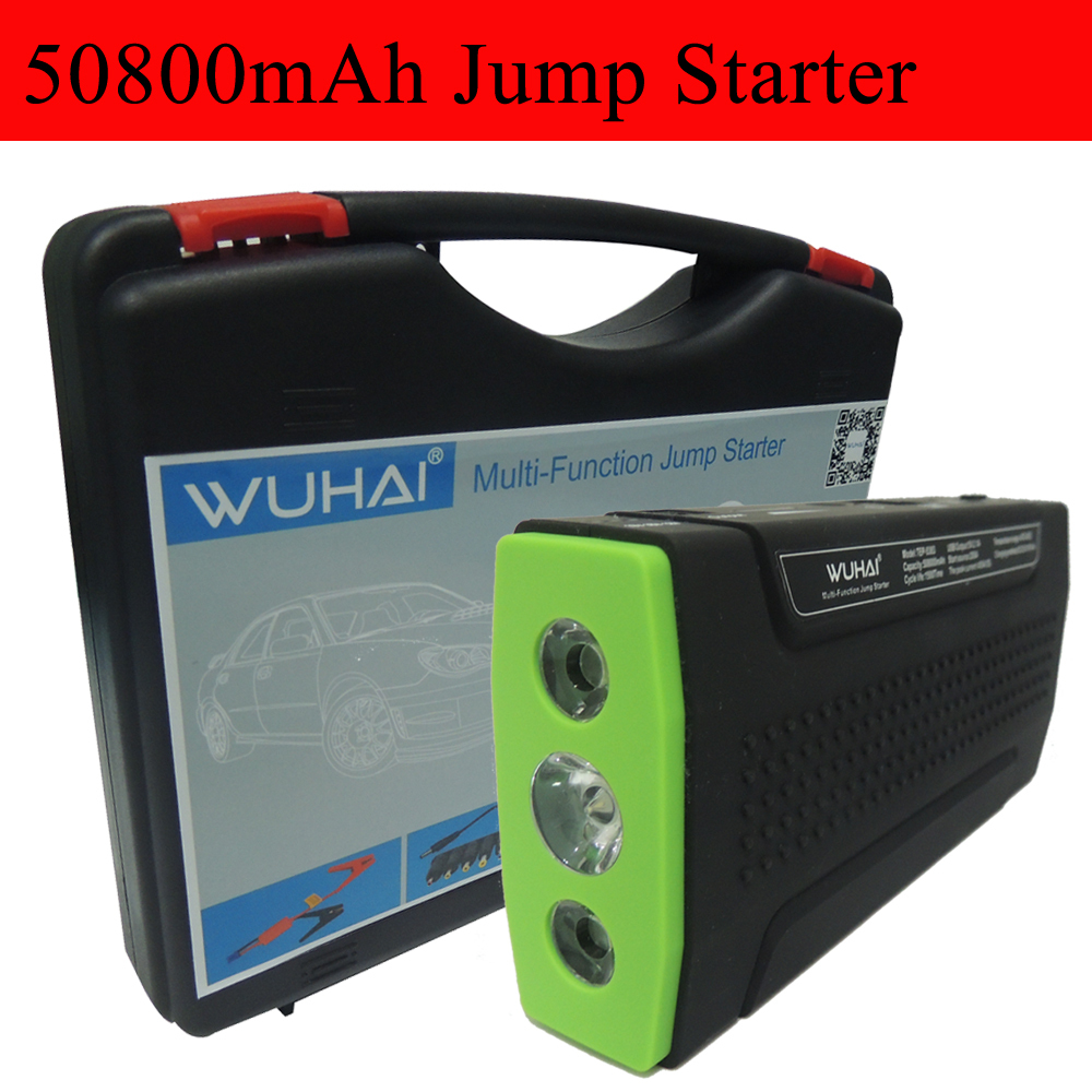 WUHAI Super 50800mAh Car Jump Starter Auto Engine EPS Emergency Start Battery Source Laptop Portable Charger Mobile Power Bank(China (Mainland))