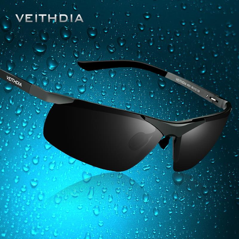 VEITHDIA Brand Men's Polarized Sunglasses Rimless Rectangle Driving Mirror Sport Mens Sun Glasses For Men 6501(China (Mainland))