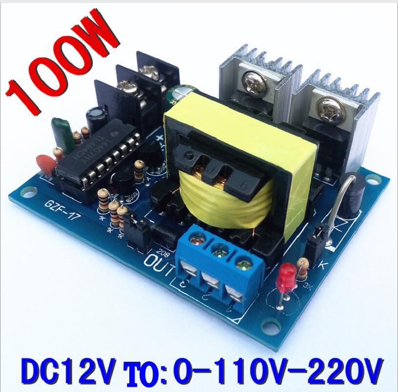 TL494 100W 12V To 0-110-220V Micro Inverter 12V TO Dual 110V Step-up Circuit Board(China (Mainland))