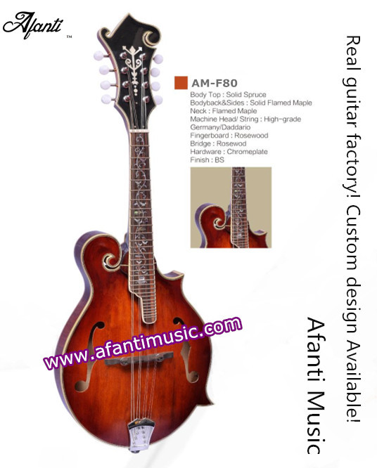 Hot! Solid Spruce Top /  Solid Flamed Maple Back &amp; Sides/ Afanti Mandolin (Afanti AM-F80)<br><br>Aliexpress