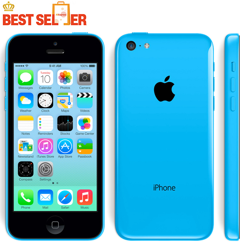"2016 Hot Sale Original Apple Iphone 5C phone 4.0"" Dual Core 8MP 5 Color Available IOS 7-IOS 9 Optional(China (Mainland))"