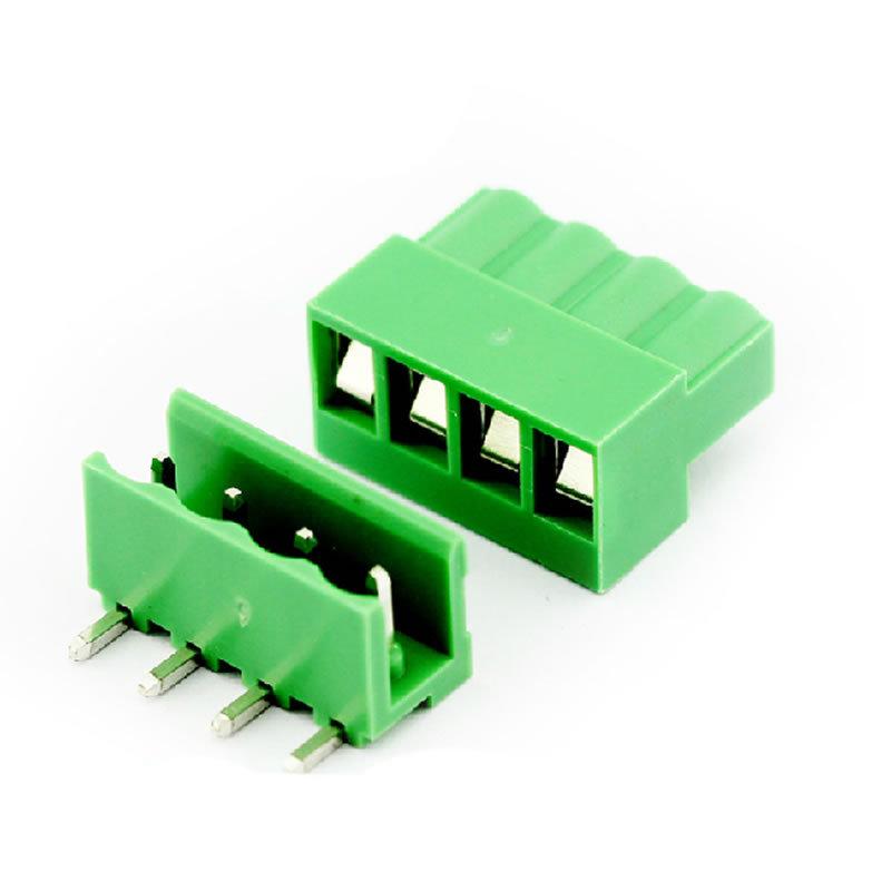Гаджет  10 sets ht5.08 4pin Right angle Terminal plug type 300V 10A 5.08mm pitch connector pcb screw terminal block connector None Электротехническое оборудование и материалы