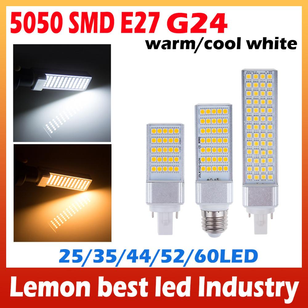 5W 7W 9W 11W 13W High power Not dazzling G24 and E27 LED Corn Bulb Lamp Bombillas Light SMD 5050 180 Degree For Home Lighting(China (Mainland))