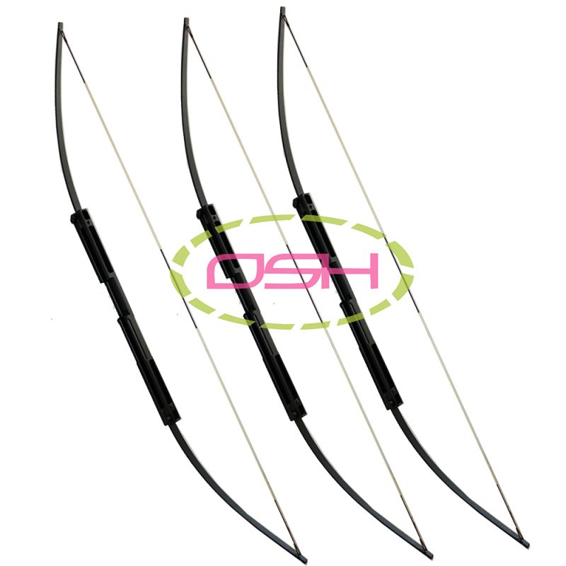 60LBS Hunting Shooting Straight bow and Arrows Black Aluminum Alloy Bow Riser Portable Folding Bows Survival