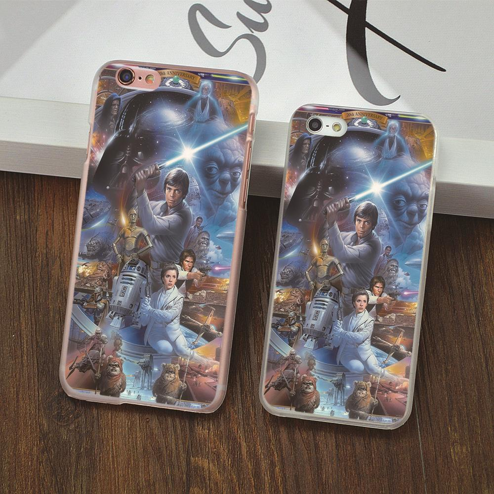 Funny STAR WARS COLLAGE LUKE SKYWALKER design clear cover phone cases For iphone 4 4s 5 5c 5s 6 6s plus hard shell