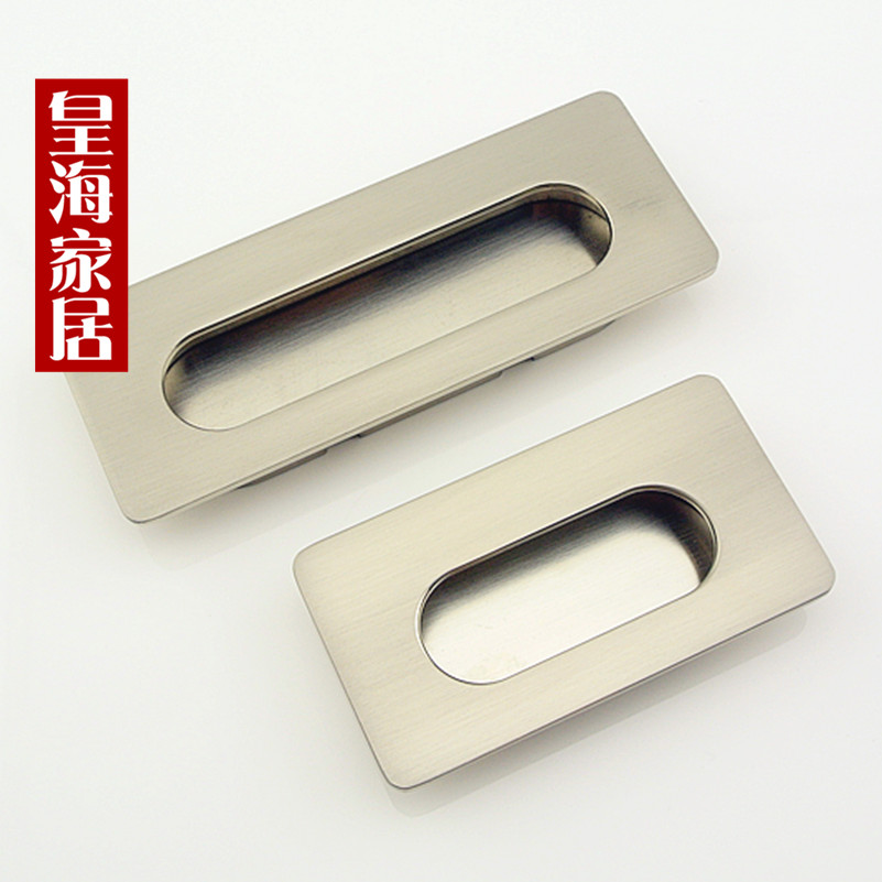 Concealed zinc alloy 64MM small dark hands drawer pull furniture sliding door handle hardware cabinets(China (Mainland))