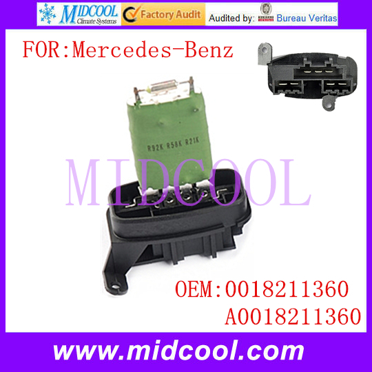 4 Pin Heater Resistor Motor Fan Blower Control Compatible With Sprinter 1995-2006 OEM 0018211360