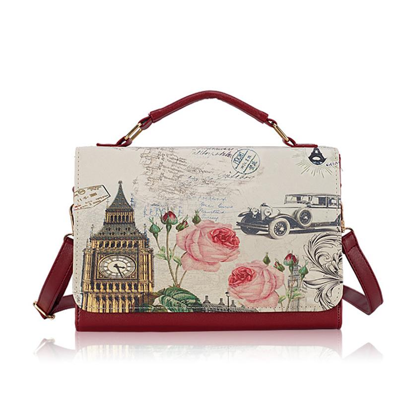 2015 Hot Item Women Handbag PU Leather messenger bag Vintage lady Shoulder Crossbody Bag fashion women bag sell well Tote BH1029(China (Mainland))