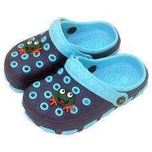 קיץ קטן בני בנות פרדות וכפכפי נעלי גן ילדי הולו נעל קריקטורה סטירות PU מקלחת החוף FE351(China)