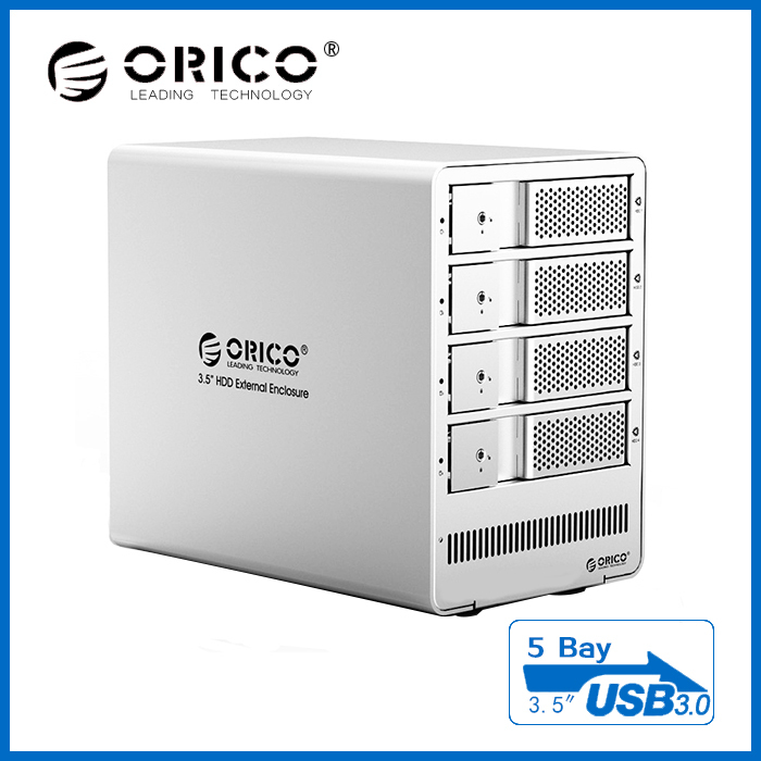 "ORICO 9558RU3 5-bay 3.5"" SATA HDD box,support 4TB*5=20TB,free shipping to USA,Italy,Spain,German, Russian,Australia,Austria etc.(China (Mainland))"