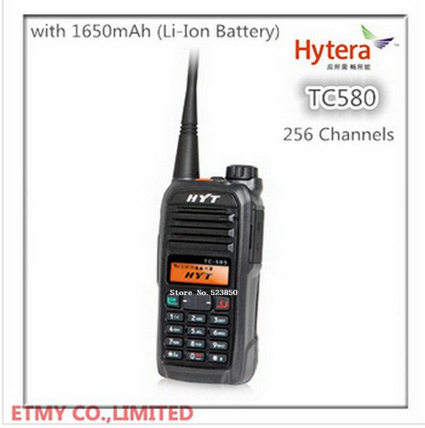Free Shipping long range radio HYT TC580 5-7 KM uhf/ vhf digital intercom analog walkie talkie with keypad and display(China (Mainland))