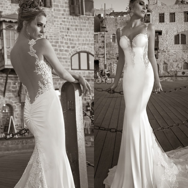 Buy 2016 bridal gown collection sexy for Lace wedding dresses open back