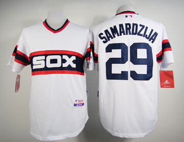 2015 Chicago White Sox #29 Jeff Samardzija # 45 Michael Jordan Jersey Cool Base White Black Men 318(China (Mainland))